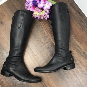 Vera Wang Lavender Leather Boots Size 7.5